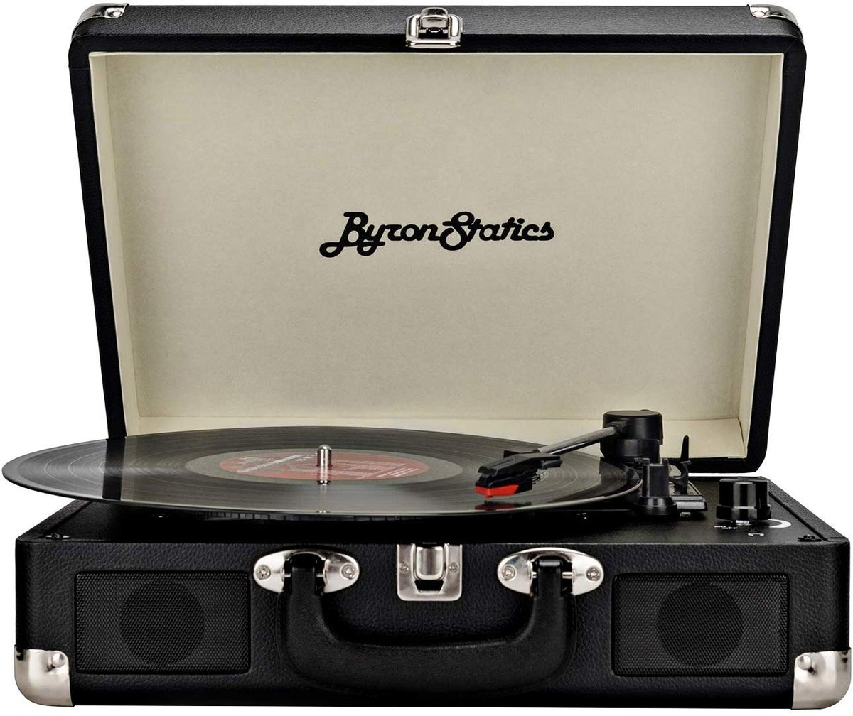 Byron Statics Turntable Vintage Record Player