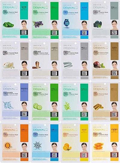 Dermal Korea Collagen Facial Mask Set (16-Pack)