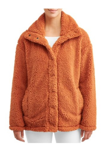 Climate Concepts Women's Collared Teddy Jacket