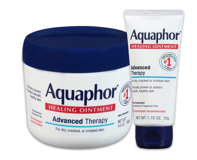 Aquaphor Healing Ointment - Moisturizing Skin Protectant For Dry Cracked Hands, Heels and Elbows - 14 oz. jar + 1.75 oz. tube