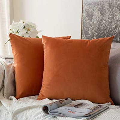 MIULEE Decorative Square Throw Pillow Covers Set