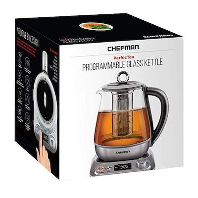 Chefman PerfecTea Programmable Electric Glass Kettle