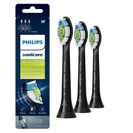 Philips Sonicare DiamondClean Toothbrush Head, 3 Pack, Black