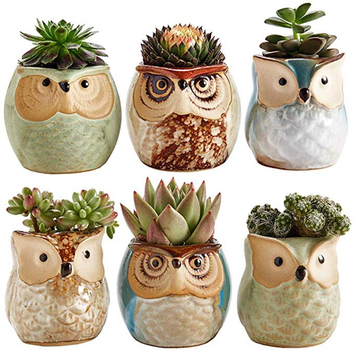 Sun-E SE Owl Pot Ceramic