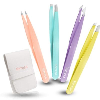 Terresa Precision Tweezers (4-Pack)