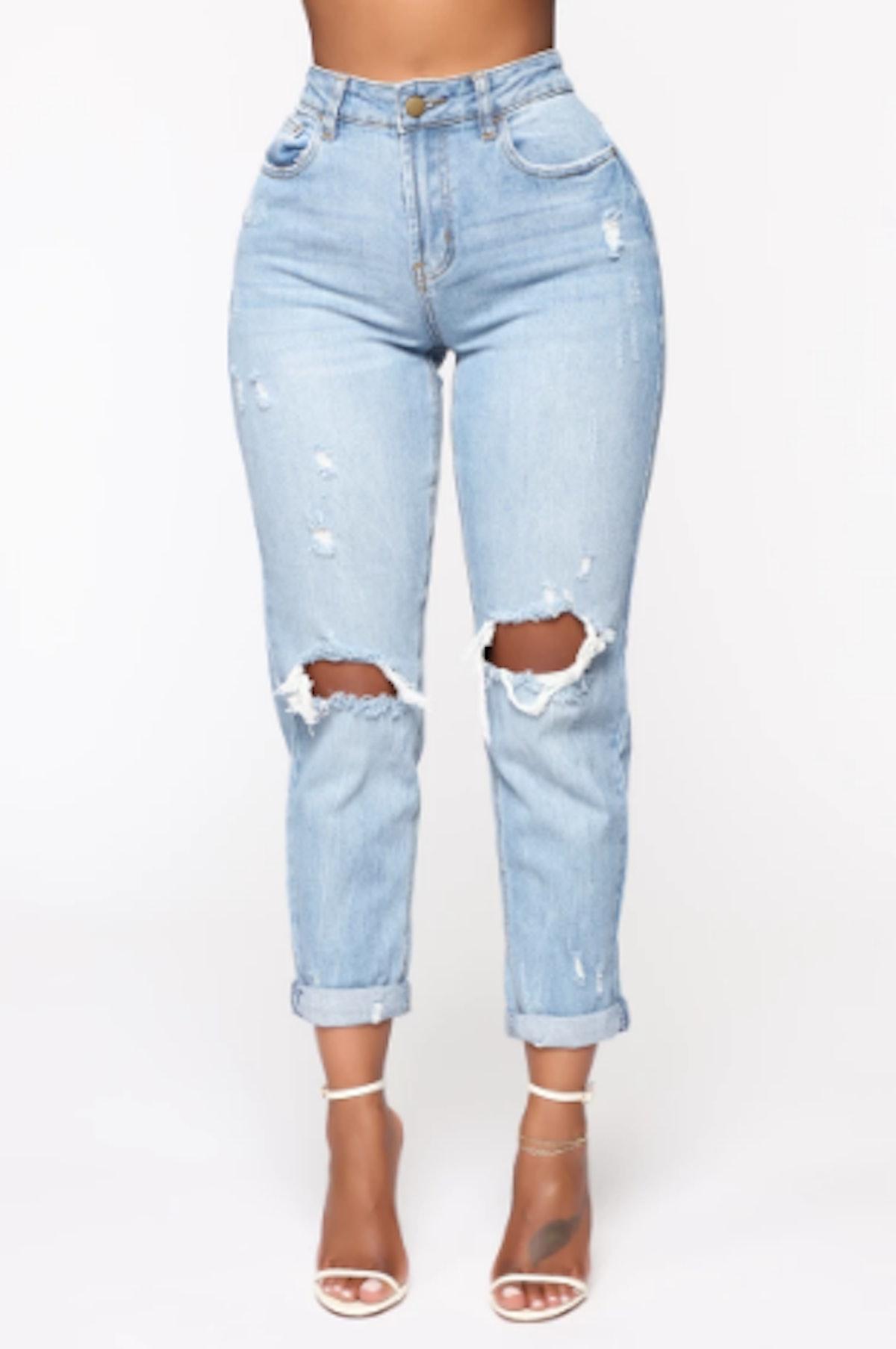 Keepin Me Stressed Boyfriend Jeans