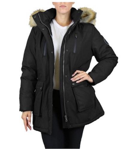 GBH Women's Heavyweight Tech Parka Jacket With Fur Hood