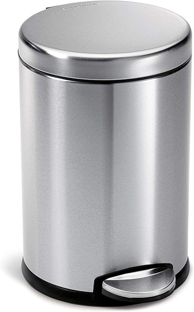 simplehuman 4.5 Liter / 1.2 Gallon Compact Round Trash Can