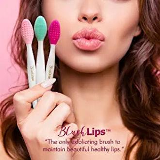 BlushLips 2-1 Double-Sided Silicone Exfoliating Lip Brush Tool