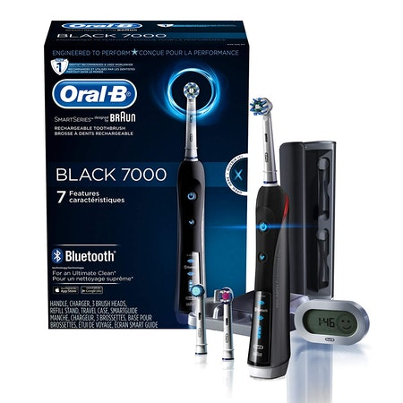 Oral-B 7000 SmartSeries Rechargeable Power Electric Toothbrush with 3 Replacement Brush Heads