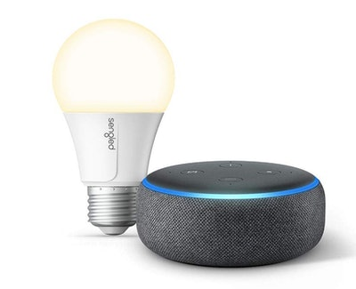 Echo Dot (3rd Gen) Bundle with Sengled Wi-Fi Smart Bulb