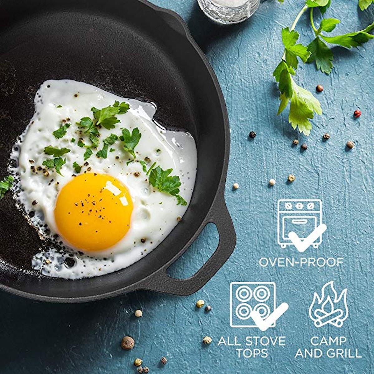 Fresh Australian Kitchen Pre-Seasoned Cast Iron Skillet