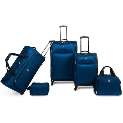 Protege 5 Piece Luggage Set w/ Carry on and Checked Bag, Blue (Online Only)
