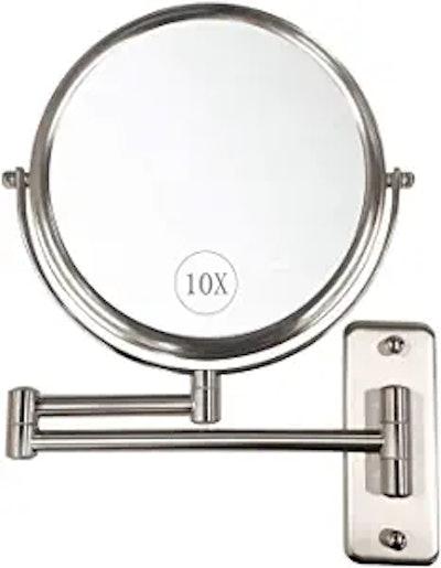 ALHAKIN Wall Mounted Makeup Mirror