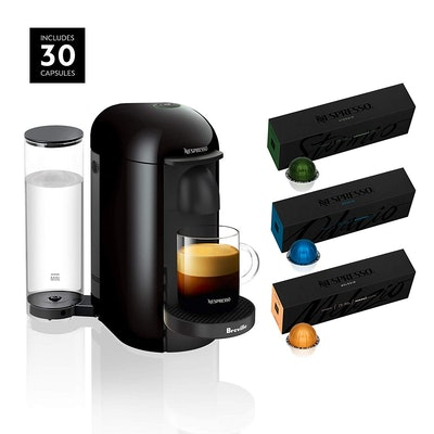 Nespresso VertuoPlus Coffee and Espresso Maker by Breville, Ink Black
