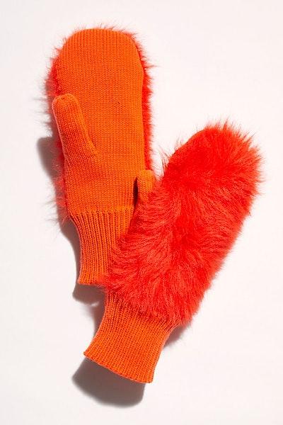 Warm Wishes Faux Fur Mittens