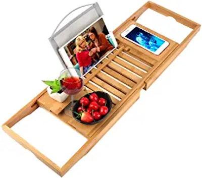 Trotinic Bamboo Bathtub Tray