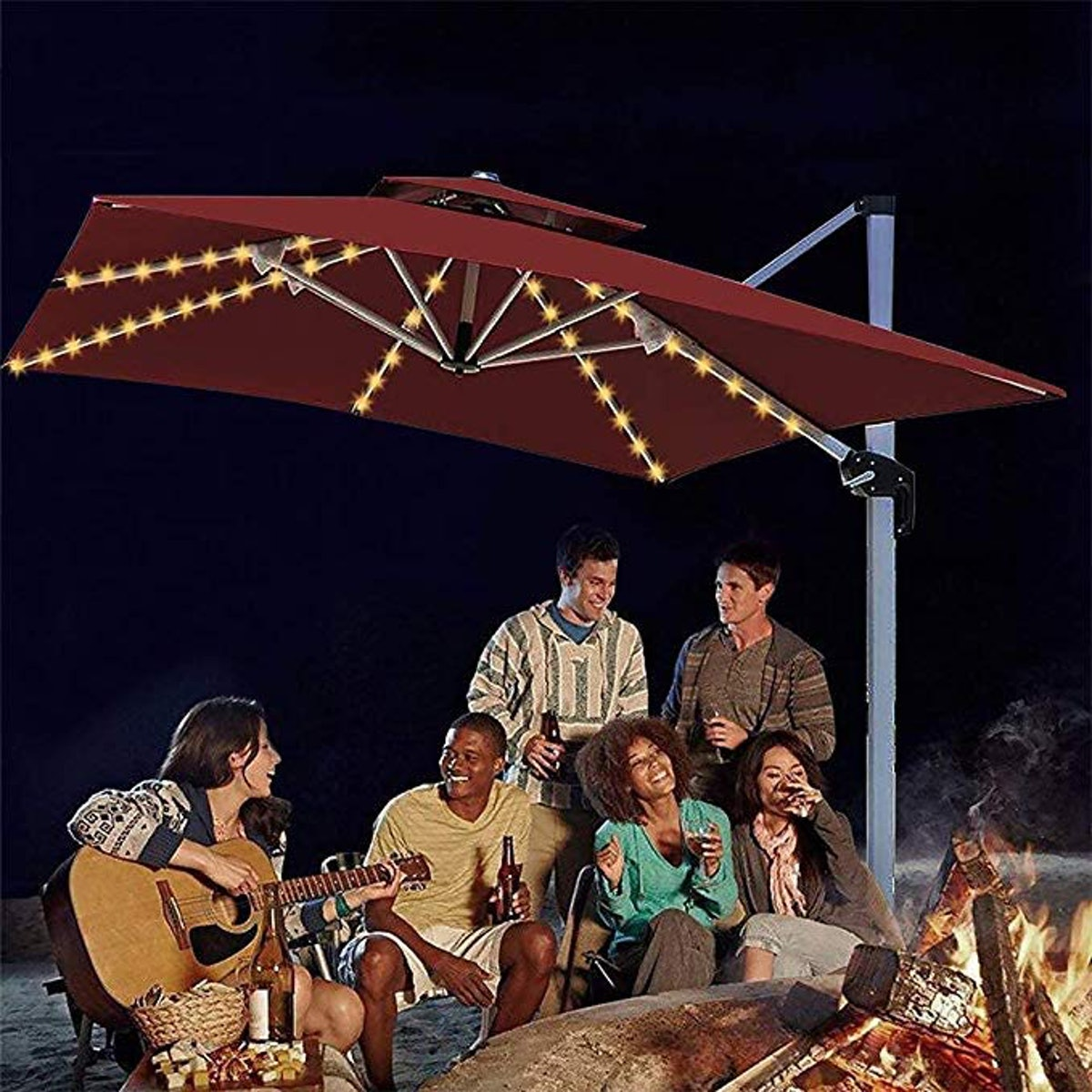 echosari Patio Umbrella Lights