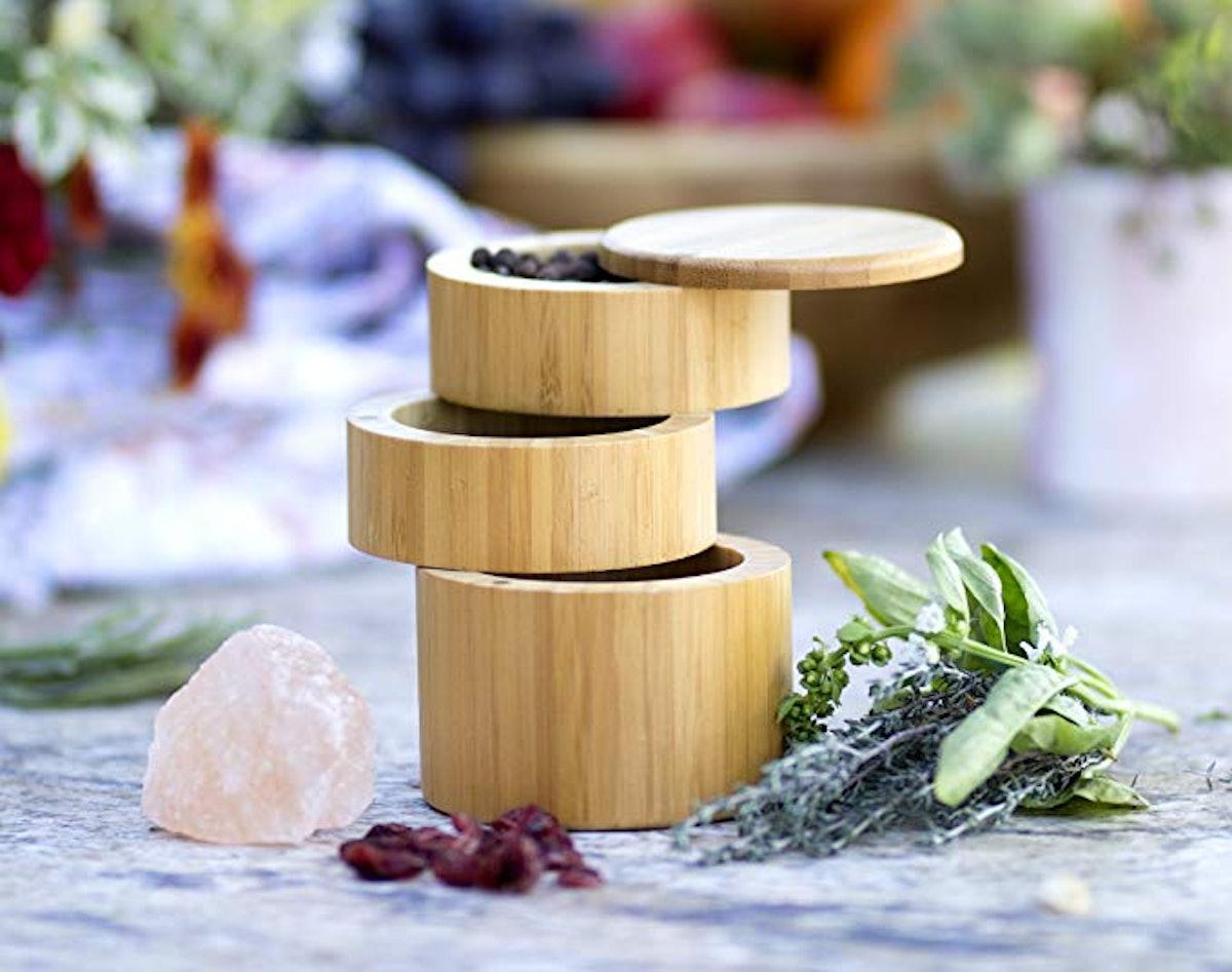 Totally Bamboo Triple Salt Box