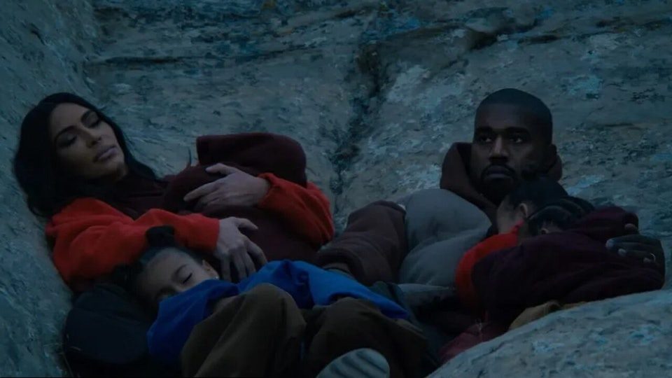 """a still from Kanye west's new video """"closed on sunday"""""""