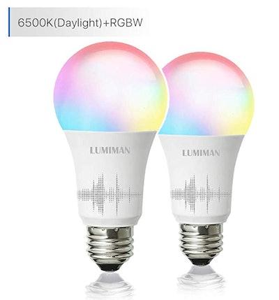 LUMIMNAN Smart WiFi Light Bulb (2-Pack)