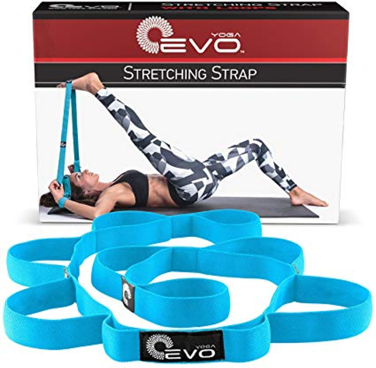 Yoga EVO Strap with Loops for Stretching