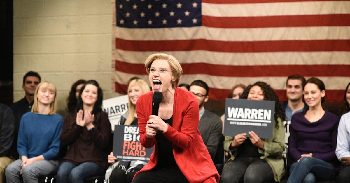 Kate McKinnon's Elizabeth Warren On 'SNL' Made An Important Point About Healthcare