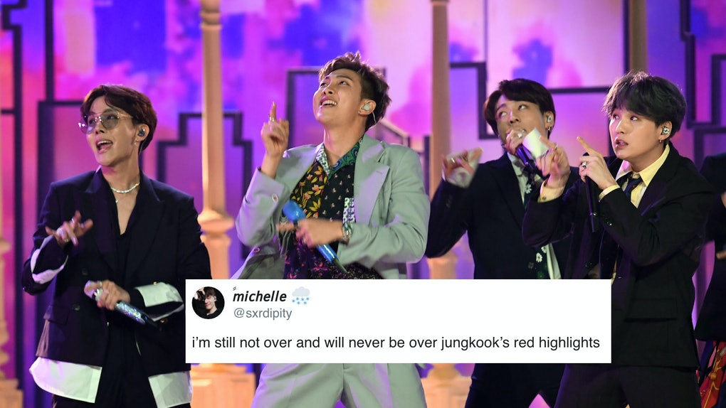 """BTS' Jungkook Debuted Red Highlights At The 2019 MMAs and performed  """"Boy In Luv."""""""