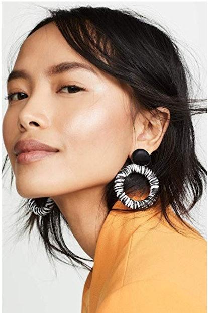 Shashi Women's Black Dahlia Earrings