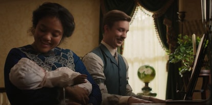 Kiersey Clemons as Darling and Thomas Mann as Jim Dear In Lady and the Tramp