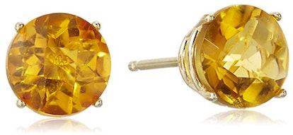Amazon Collection 10K Gold Cushion-Cut Stud Earrings