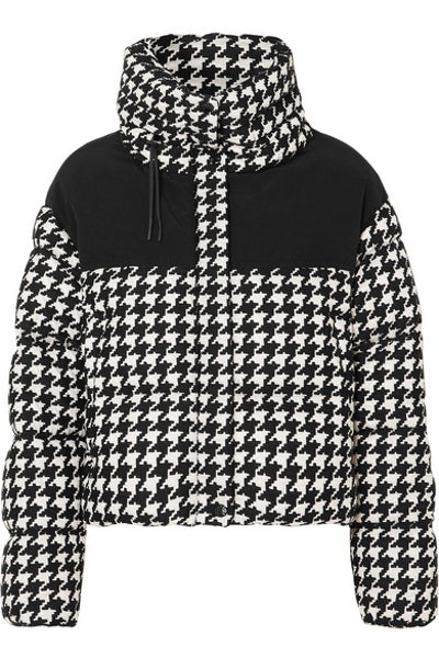 Embroidered Quilted Shell Down Jacket