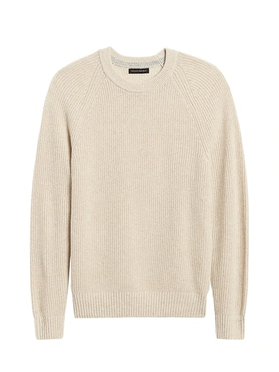Ribbed Crew-Neck Sweater