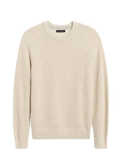 Ribbed Crew-Neck Sweater