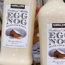 Costco has an eggnog wine cocktail you can serve on ice.
