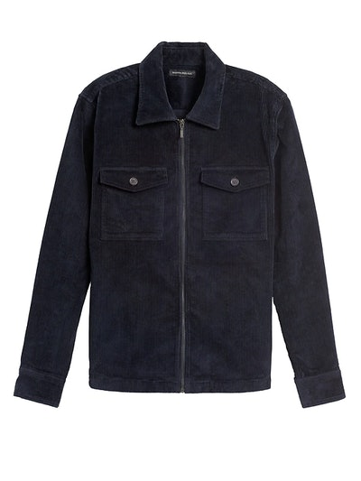 Slim Corduroy Shirt Jacket