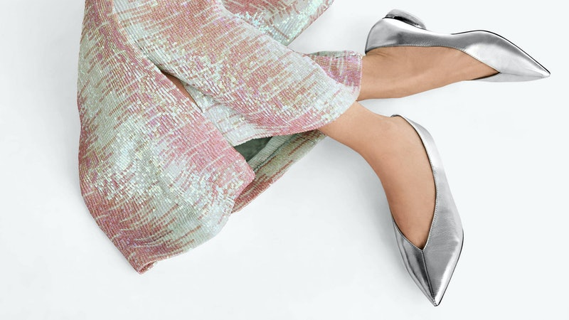 Swap your heels for these festive flat shoes straight from the high street