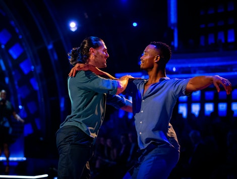 Johannes Radebe and Graziano Di Prima danced Strictly Come Dancing's first individual same-sex dance