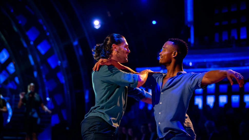 Johannes Radebe and Graziano Di Prima danced Strictly Come Dancing's first individual same-sex dance