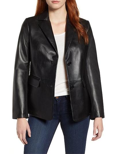 Updated Leather Blazer