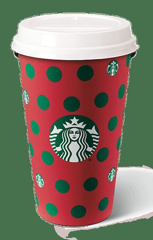 Starbucks' polka dot holiday cup for 2019.