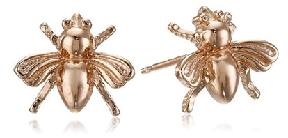 Amazon Collection Sterling Silver Bumblebee Stud Earrings