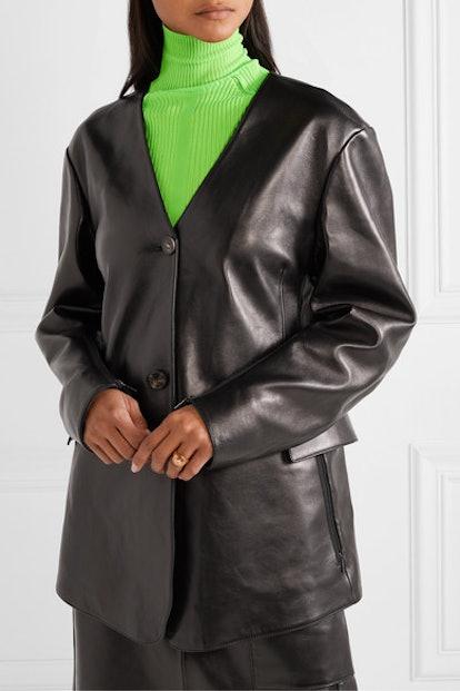 Lexa Oversized Leather Jacket