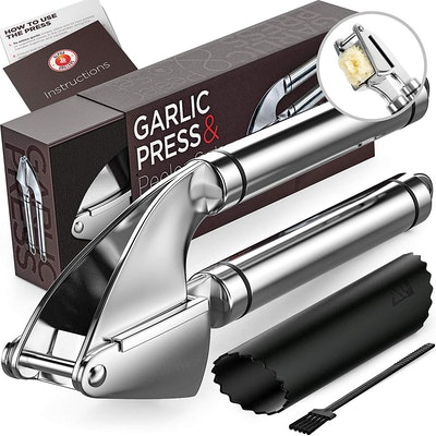 Alpha Grillers Stainless Steel Garlic Press