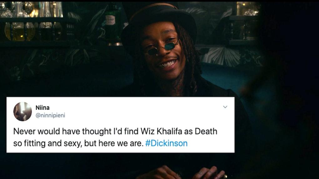 Tweet about Wiz Khalifa as Death in Dickinson