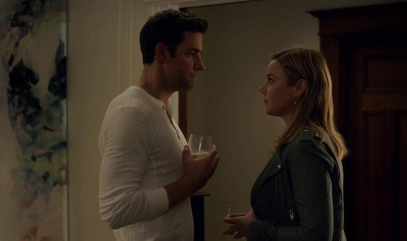 Jack Ryan (John Krasinski) and Dr. Cathy Mueller (Abbie Cornish) share a moment in 'Jack Ryan.'