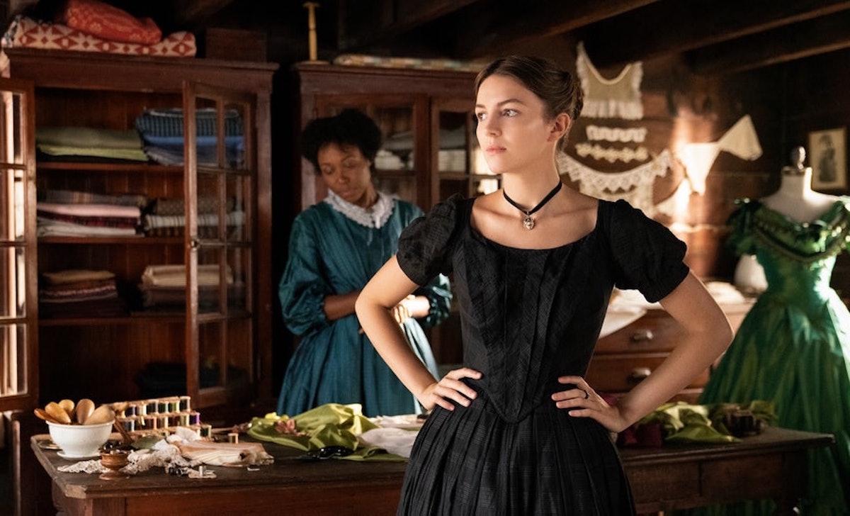 Sue Gilbert's pregnancy in 'Dickinson' is a Season 1 cliffhanger.