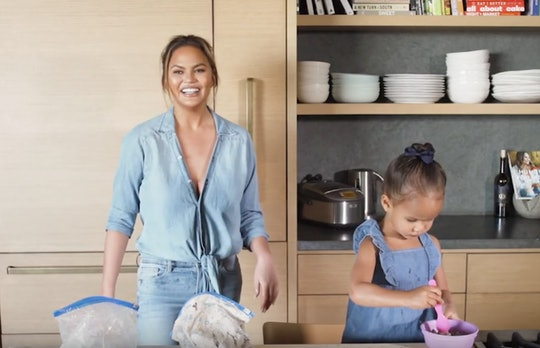 Chrissy Teigen's new cooking video with daughter, Luna, proves that they both love food.