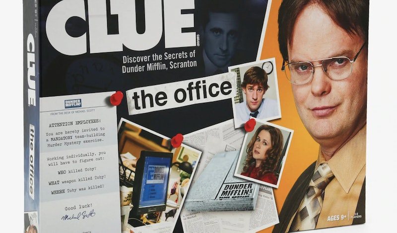 Clue has a 'The Office' version that lets you solve Toby's murder.