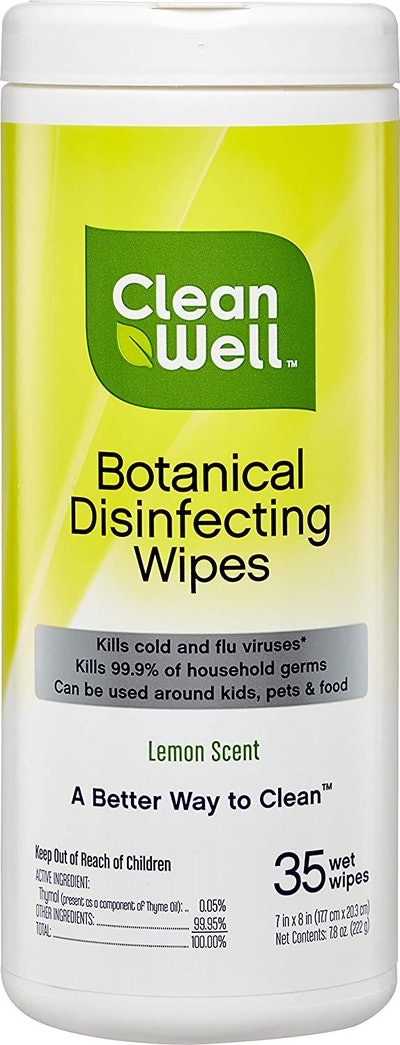 CleanWell Botanical Antibacterial Disinfecting Wipes
